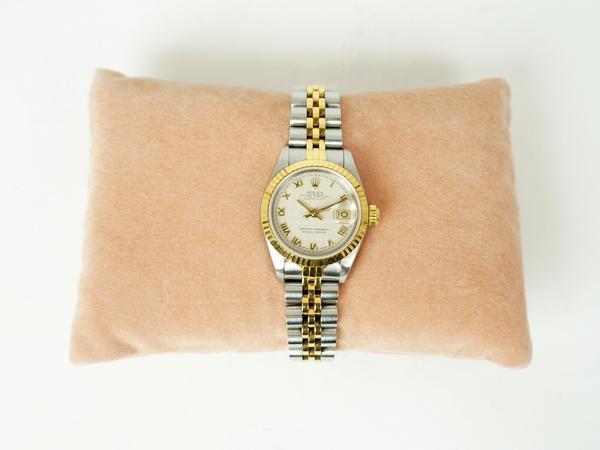 ロレックス デイトジャスト K18/SS 腕時計 レディース