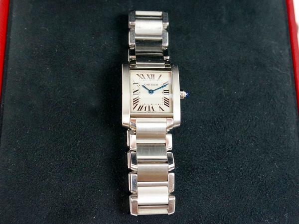 カルティエ 腕時計 タンクフランセーズ SM レディース