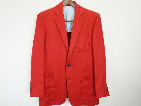 マーロ(malo) ジャケット リネン 赤 46 メンズ