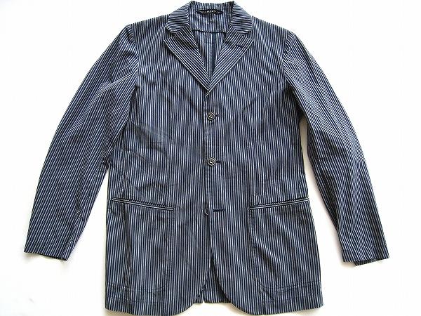 トゥモローランド ジャケット 46 青 ストライプ メンズ