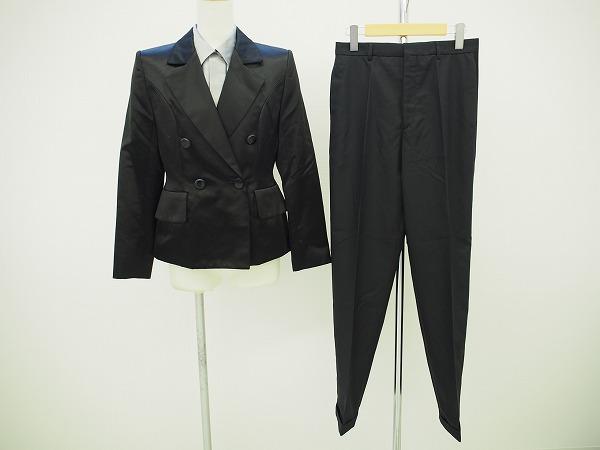 イヴサンローラン パンツスーツ 38 黒 3P レディース