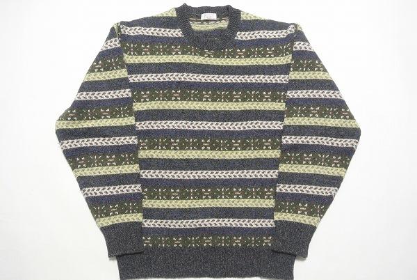 パパス セーター ニット ブルー系 メンズ