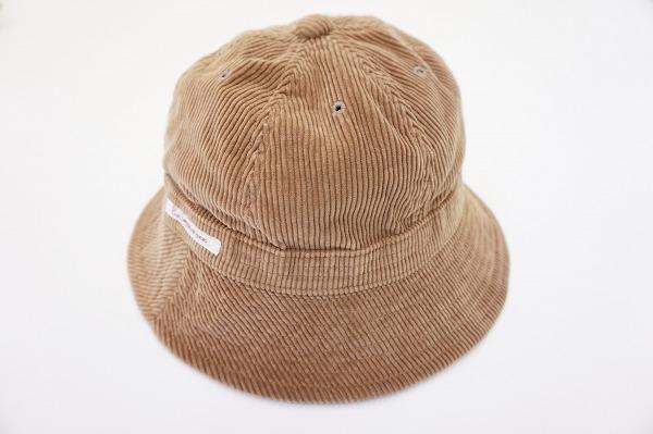 パパス 帽子 L 茶 コーデュロイ メンズ