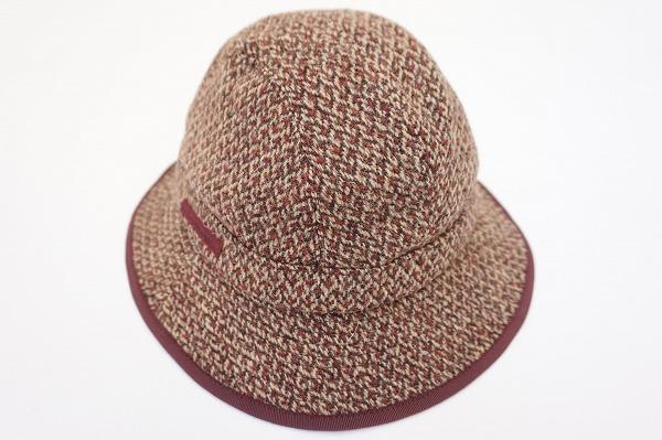 パパス 帽子 L 茶 ウール メンズ