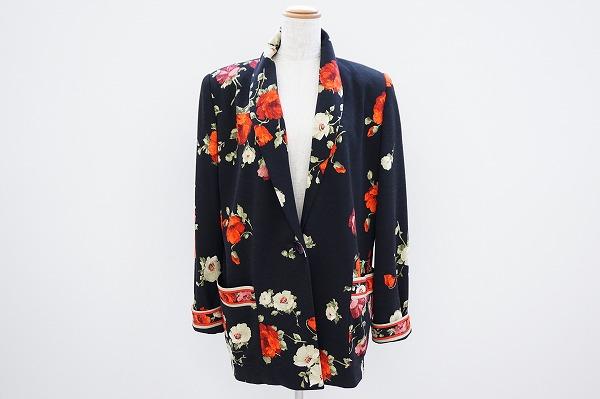 レオナール ジャケット 38  花柄 レディース