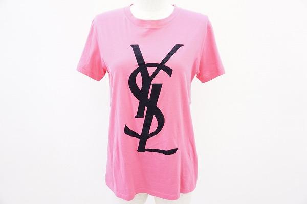 イヴサンローラン Tシャツ 36 ロゴ レディース