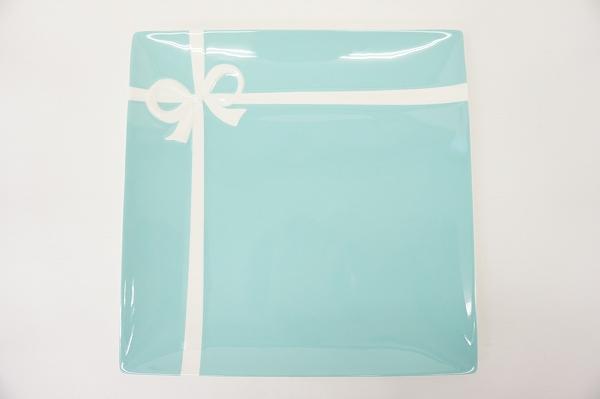 ティファニー ブルーボウ プレート 大皿 水色
