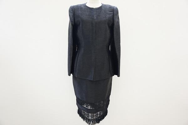 レナランゲ スカートスーツ 40 黒 3P レディース