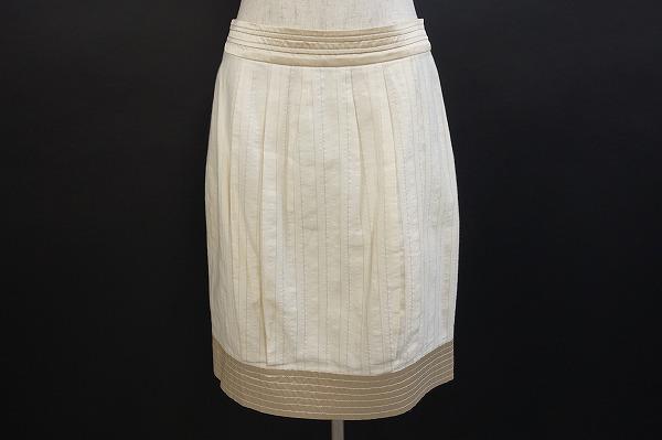 ニコルミラー スカート 2 クリーム レディース