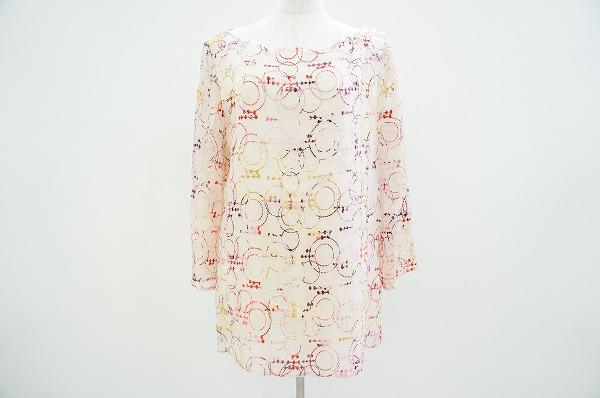 アニオナ ブラウス 44 刺繍 シルク混 レディース