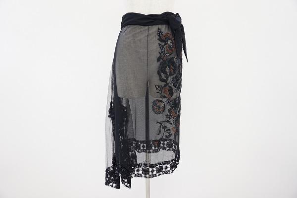 イッセイミヤケハート スカート 2 黒 レディース