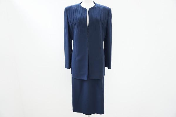 ヴァレンティノ スカートスーツ 44 紺 レディース