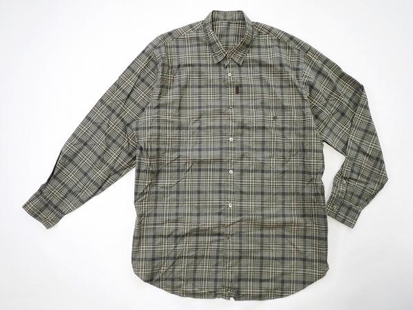 グリーン系のチェック柄が使いやすいパパスの長袖シャツ