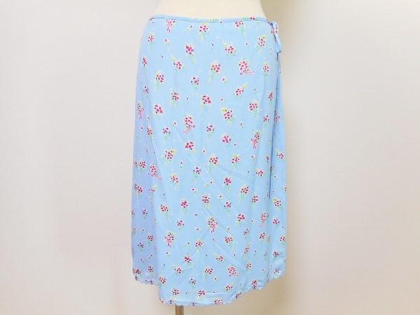 ブルマリン スカート 水色 シルク混 レディース