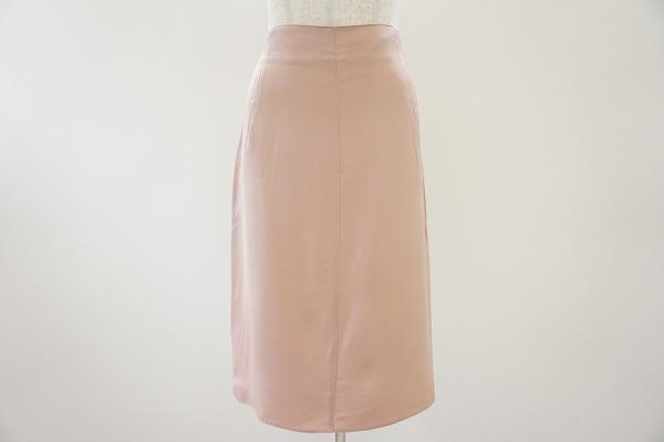 ブルマリン スカート 42 ピンク シルク レディース