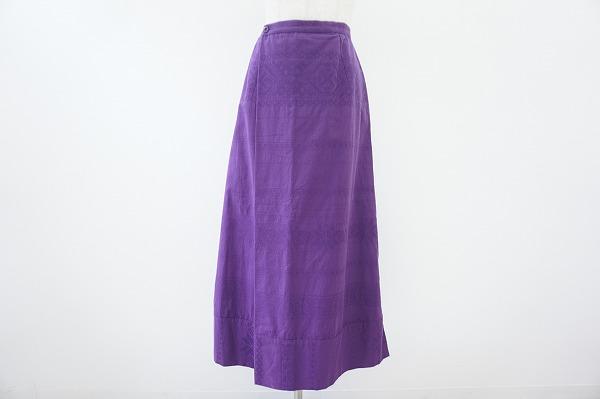 プランテーション スカート M 紫 レディース