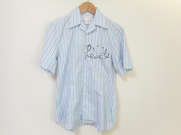 コムデギャルソン 半袖シャツ S 水色 メンズ