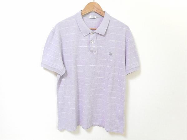 ブルネロクチネリ ポロシャツ XXL 薄紫 メンズ