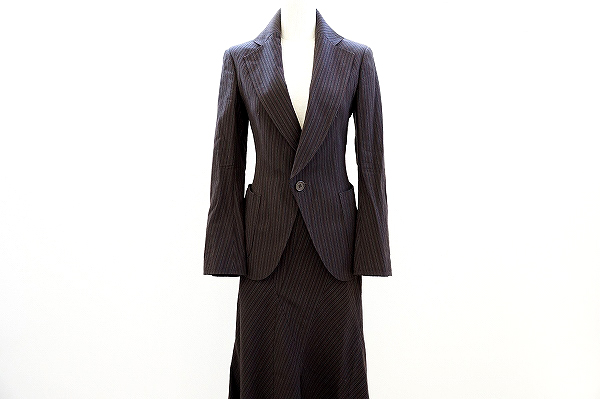 コムデギャルソン スカートスーツ M 茶 レディース