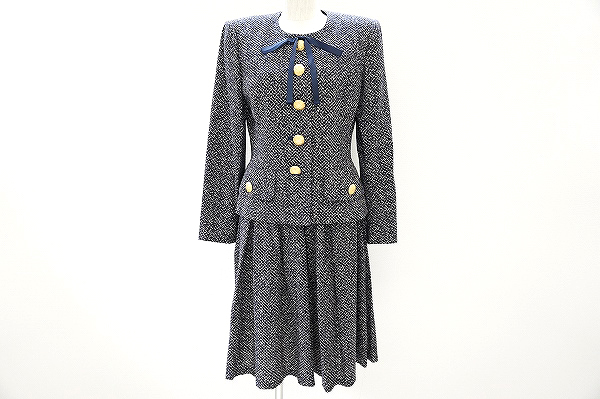 キミジマ スカートスーツ 9 紺 レディース