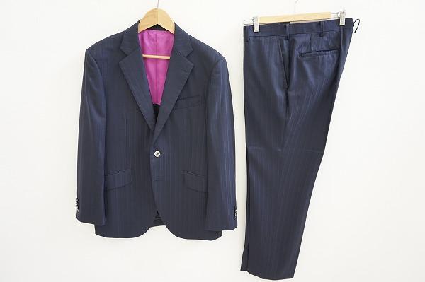 ドーメル シングルスーツ super150's 紺 メンズ