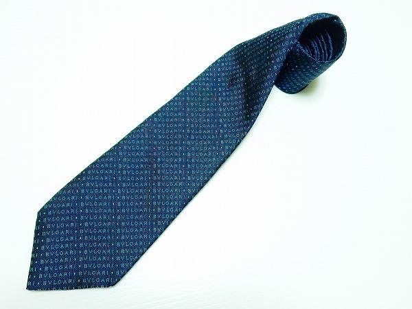ブルガリ ネクタイ 濃紺 美品 メンズ_2