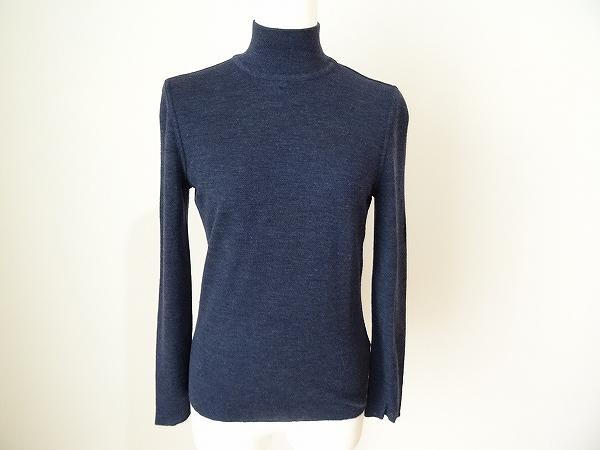 レナランゲ セーター 38 紺 レディース