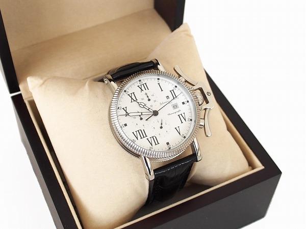 サルバトーレマーラ 腕時計 レザー クロノ メンズ
