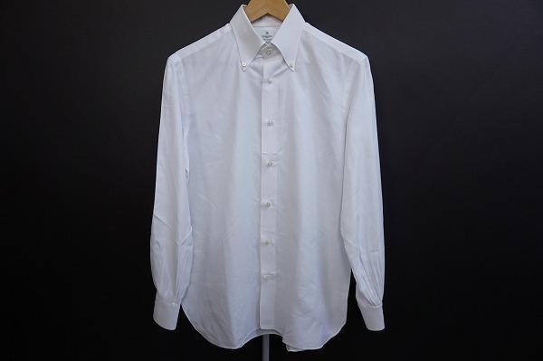 ルイジボレッリ 長袖シャツ 39 白 BD メンズ