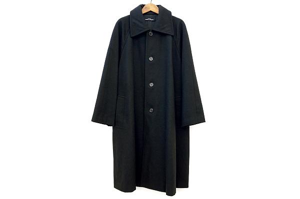 コム デ ギャルソン トリコ コート 黒 レディース
