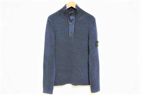 ストーンアイランド セーター L 紺 美品 メンズ [443947]