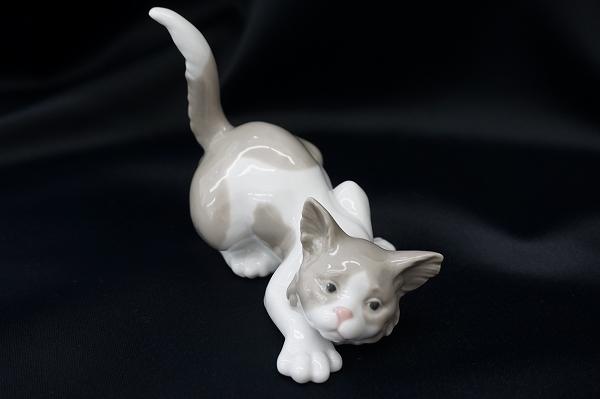 リヤドロ 5112 Attentive Cat  猫 置物 小物