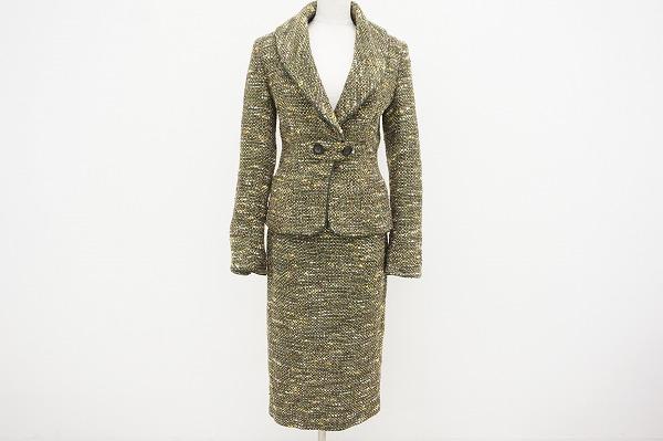 アニオナ スカートスーツ ツイード レディース