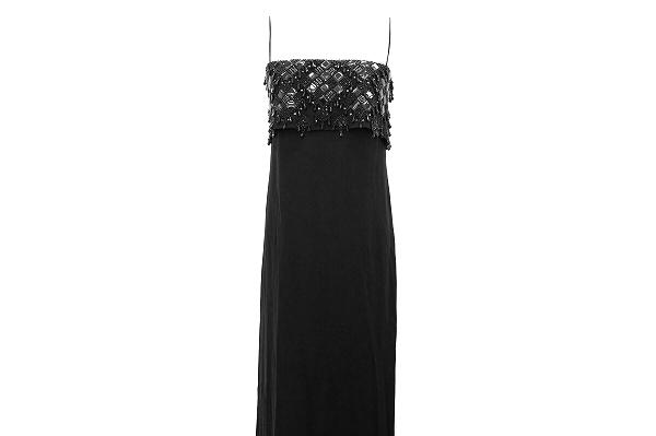 ヴァレンティノ ドレス ロング 黒 絹紺 レディース