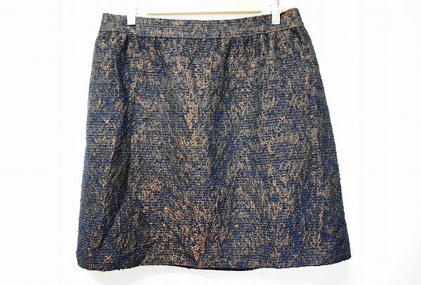 23区 スカート 50 紺 茶 大きいサイズ レディース