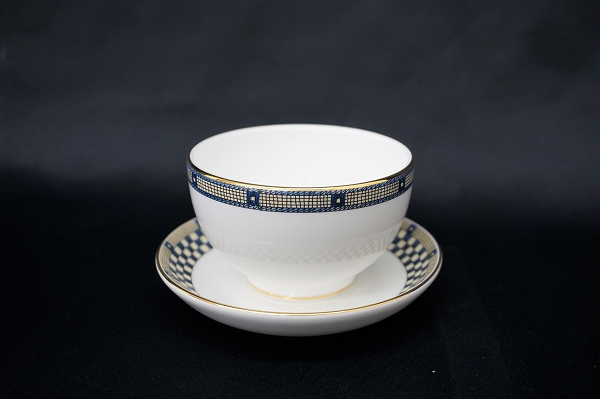 ウェッジウッド SAMURAI サムライ ジャパニーズティー 湯呑み カップ&ソーサー 1客 美品