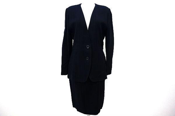 ジュンアシダ スカートスーツ 7 黒 レディース