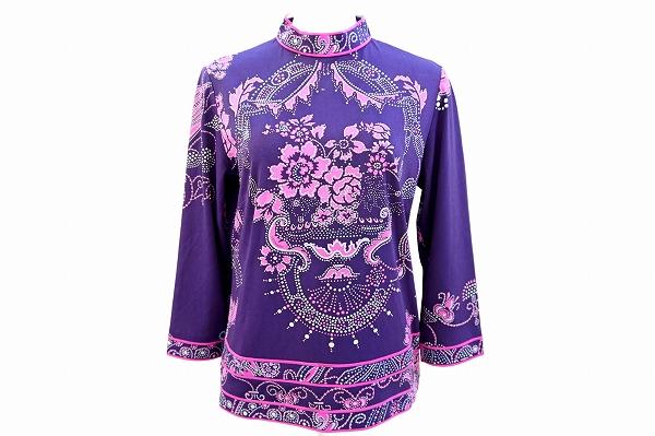 レオナール カットソー L 紫 マオカラー レディース