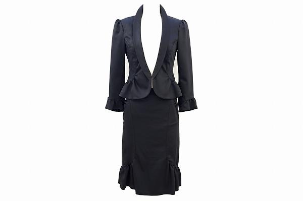 パオラフラーニ スカートスーツ 黒 レディース