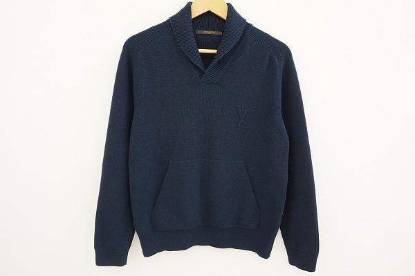 ルイヴィトン セーター ニット XS 紺 美品 メンズ