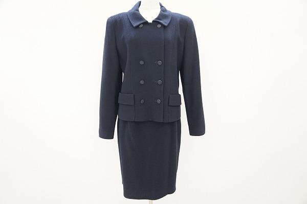 フォクシー スカートスーツ 42 紺 レディース