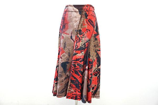 イッセイミヤケ スカート 3 赤 レディース