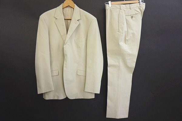 プラダ シングルスーツ 50 ベージュ メンズ