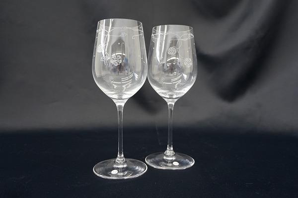 ウェッジウッド ワイルドストロベリー ワイングラス ペア 食器