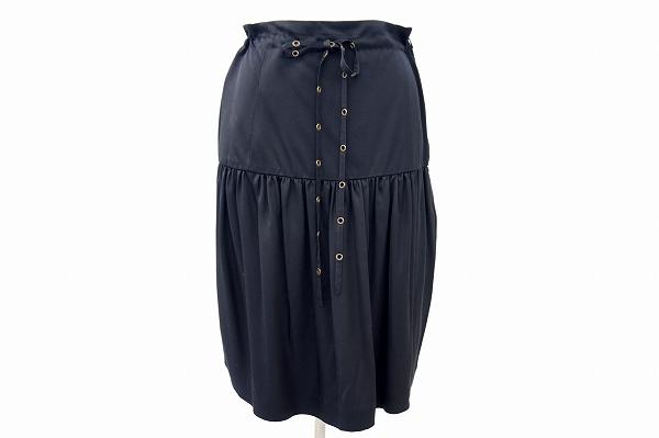 イヴサンローラン スカート 黒 レディース