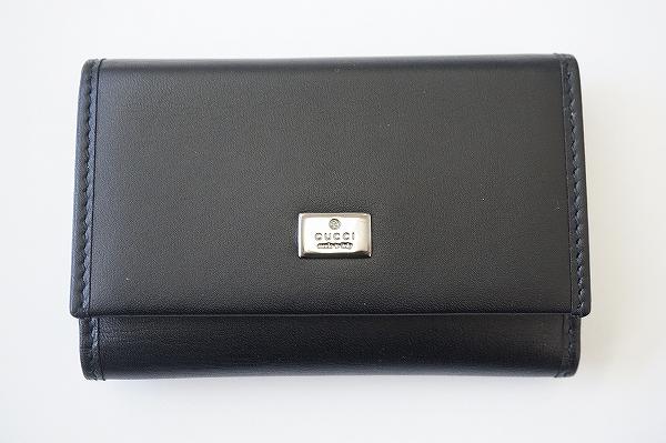 グッチ キーケース 6連 レザー 黒