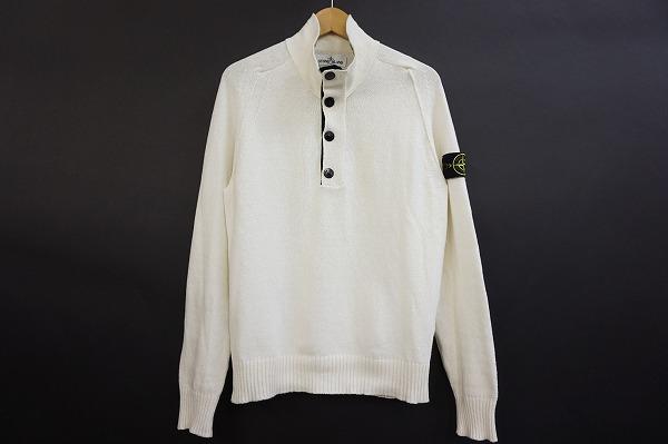 ストーンアイランド セーター ニット L 白 メンズ