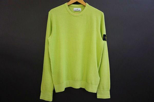 ストーンアイランド セーター ニット L 黄緑 メンズ