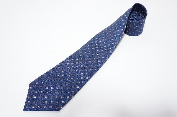 ブルガリ ネクタイ 紺 シルク メンズ
