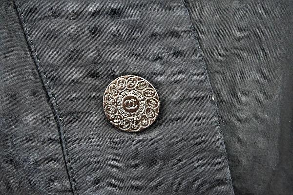 シャネル コート 黒 部品取り ボタン レディース